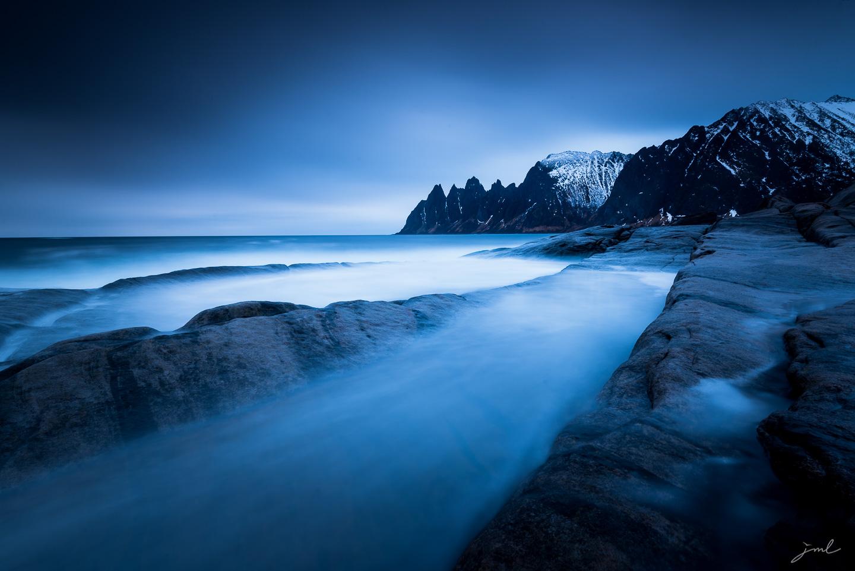 Heure bleue sur l'ile de Senja