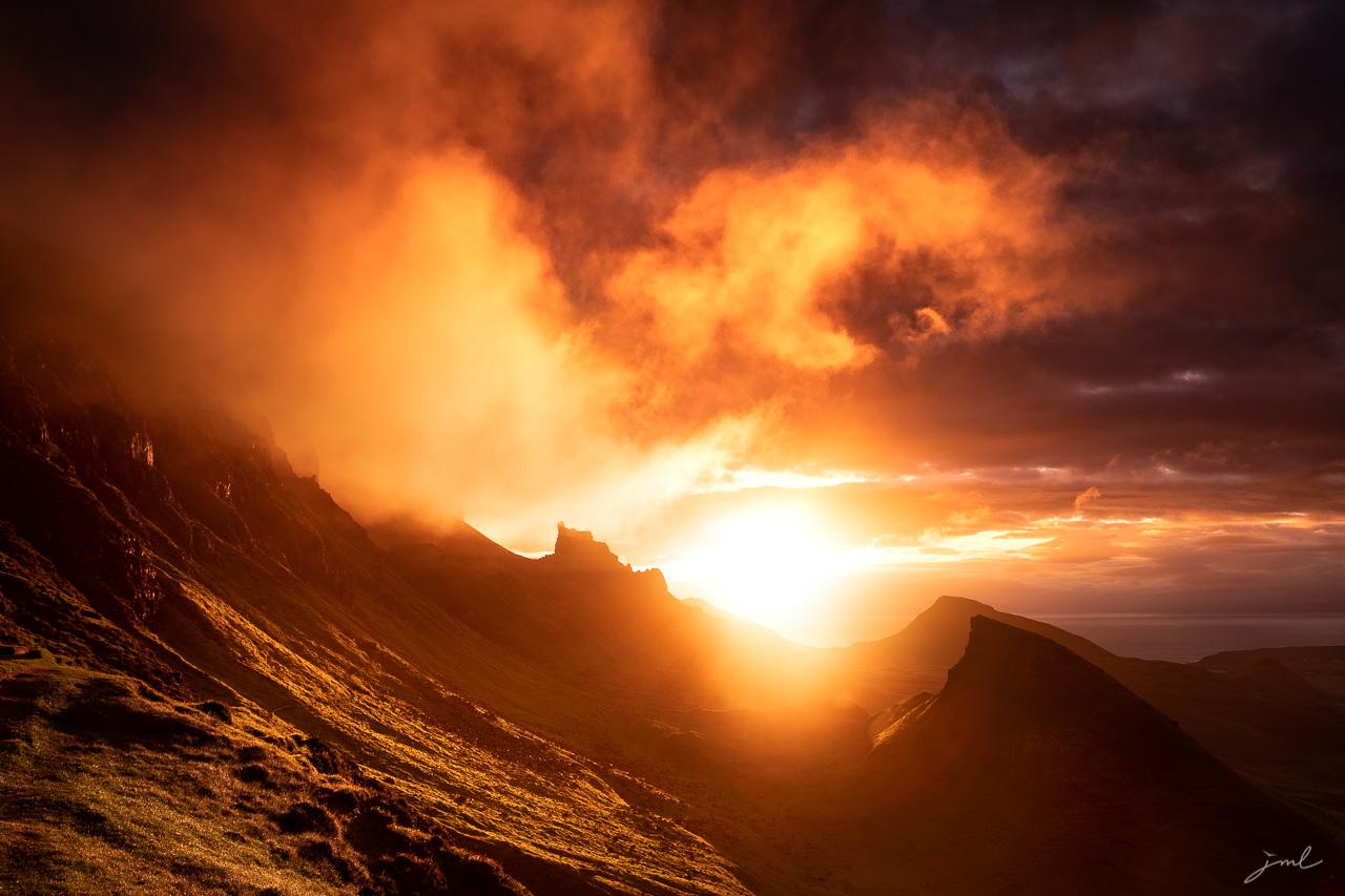 Lever de soleil dans les nuages