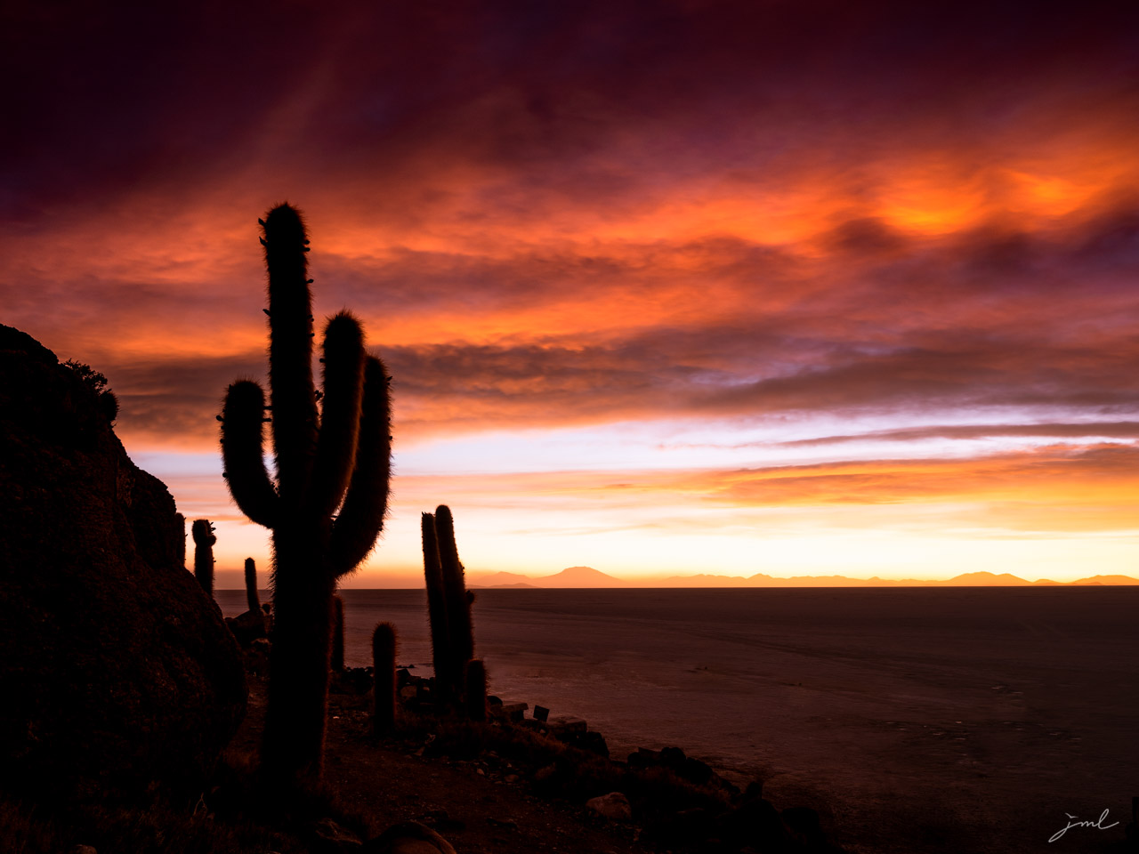 Paysage du desert de l'ATACAMA